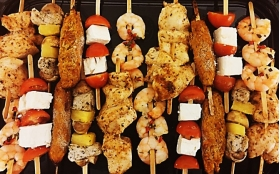 Get Skewered (contains no gluten or nuts)