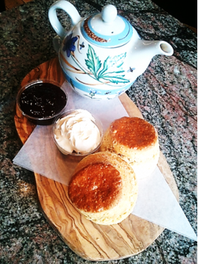 Cream Tea with Scones, Clotted Cream & Jam